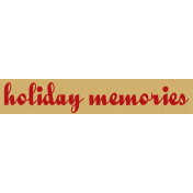 "A Little Sparkle {Elements}- ""Holiday Memories"" Word Art Label"