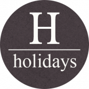 "A Little Sparkle {Elements}- ""Holidays' Gray Circle Label"