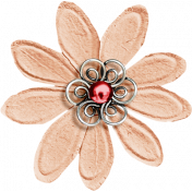 A Little Sparkle {Elements}- Peach And Pink Paper Flower