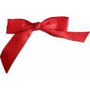 A Little Sparkle {Elements}- Red Fabric Bow