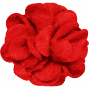 A Little Sparkle {Elements}- Red Felt Flower
