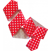 A Little Sparkle {Elements}- Red And White Polka Dot Ribbon