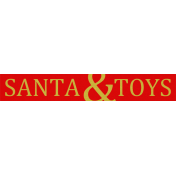 "A Little Sparkle {Elements}- ""Santa And Toys"" Word Art Label"