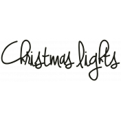 "A Little Sparkle {Elements}- ""Christmas Lights"" Word Art"