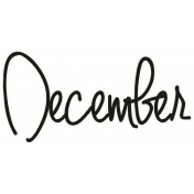 "A Little Sparkle {Elements}- ""December"" Word Art"