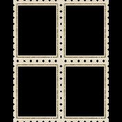 A Little Sparkle {Elements}- Vintage Glitter Stamp Frame Quartet