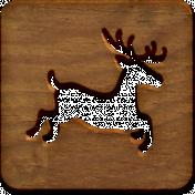 A Little Sparkle {Elements}- Wooden Block With Deer Cutout