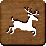 A Little Sparkle {Elements}- Wooden Block With Deer Cutout