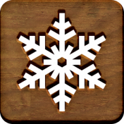 A Little Sparkle {Elements}- Wooden Block With Snowflake Cutout
