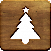 A Little Sparkle {Elements}- Wooden Block With Tree Cutout