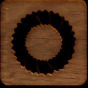 A Little Sparkle {Elements}- Wooden Block With Wreath Cutout