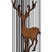A Little Sparkle {Elements}- Wooden Deer