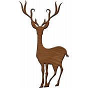 A Little Sparkle {Elements}- Wooden Deer