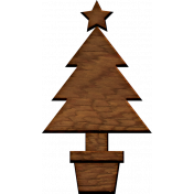 A Little Sparkle {Elements}- Wooden Christmas Tree