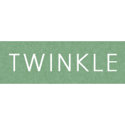 Be Bold- Twinkle Word Art