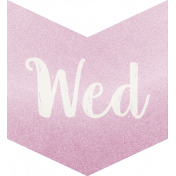 BE Bold- Day Tags Lilac- Wednesday