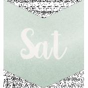 Be Bold- Day Tag Mint- Saturday