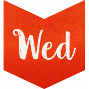 Be Bold- Day Tag Red- Wednesday