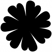 Be Bold Templates - Flower Shape