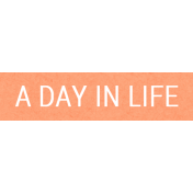 Good Day- A Day In Life