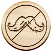 Dear Old Dad- Wood Tag- No Mustache