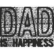 Dear Old Dad- Word Art 04