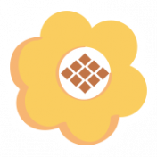 Work Day- Orange Flower Sticker