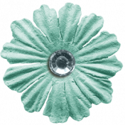 Work Day- Teal Flower