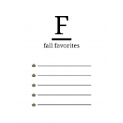 Autumn Day Pocket Cards- Card 01