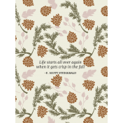 Autumn day Pocket Cards- Card 13