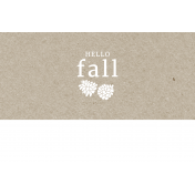 Autumn Day Pocket Card- Card 18