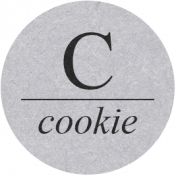 Sugar & Sweet Elements- C Tag Cookie