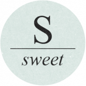 Sugar & Sweet Elements- S Tag Sweet