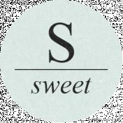 Sugar & Sweet Elements- S Tag Sweet
