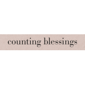 Autumn Day- Counting Blessing- Word Strip