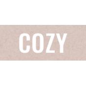 Autumn Day- Cozy- Word Strip