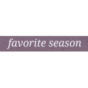 Autumn Day- Favorite Season- Word Strip