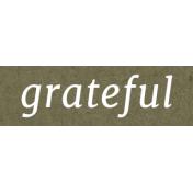 Autumn Day- Grateful- Word Strip