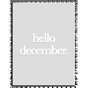 Hello December White Vellum