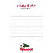 Christmas Day Elements- Shopping List