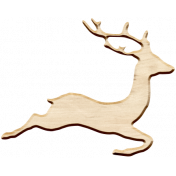 Christmas Day Elements- Wooden Deer
