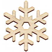 Christmas Day Elements- Wood Snowflake