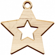 Christmas Day Elements- Wood Star
