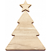 Christmas Day Elements- Wood Christmas Tree