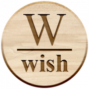 Christmas Day Elements- Wood Wish Tag