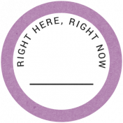 Back To Basics- Right Here, Right Now Label 21
