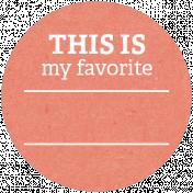 Back To Basics Labels- Favorite Label 5