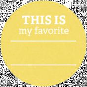 Back To Basics Labels- Favorite Label 6