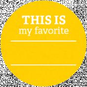 Back To Basics Labels- Favorite Label 7