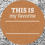 Back To Basics Labels- Favorite Label 9